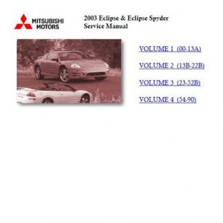 2003 Mitsubishi Eclipse Manual