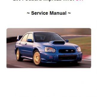 2004 Subaru Impreza WRX STi Service Manual