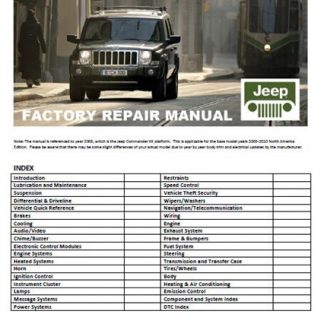 2006-2010 Jeep Commander Xk Repair Manual