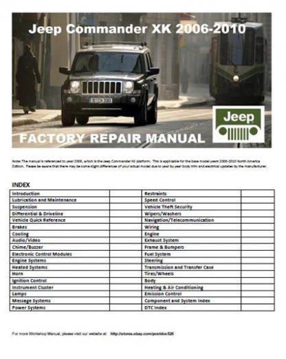 2006-2010 Jeep Commander Xk Repair Manual