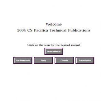 2004 Chrysler Pacifica PDF