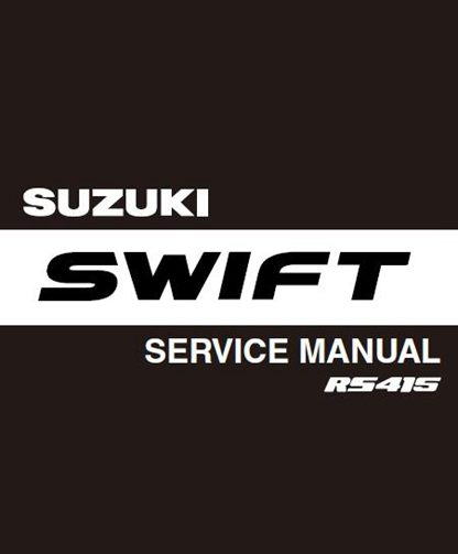 2004 Suzuki Swift Rs415 Service Manual