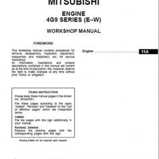 Mitsubishi 4G9 PDF