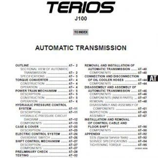 Terios J100 Service Manual
