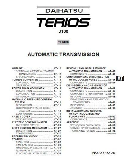 Terios J100 Service Manual