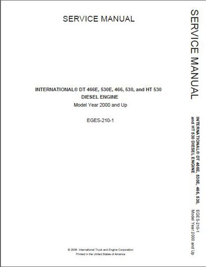 international dt466 530 466e 530e diesel engine service manual rh manualbuy com international 4300 dt466 service manual dt466 service manual free download