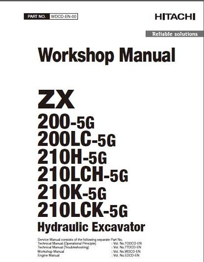 hitachi zx200 5g hydraulic excavator workshop manual download rh manualbuy com Hitachi Excavator Specifications Hitachi 225 Excavator Dimensions