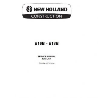 New Holland E16B, Service Manual