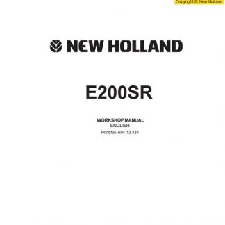 New Holland E200SR Workshop Manual