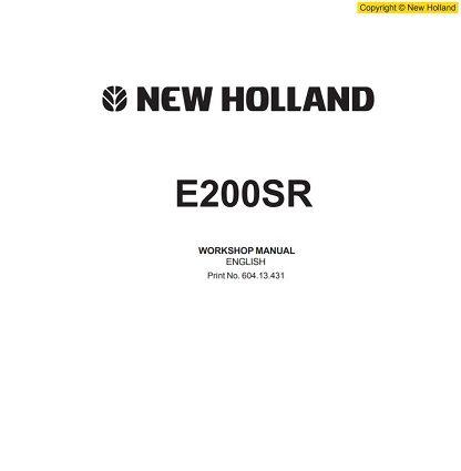 New Holland E200SR Workshop Manual