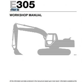 New Holland E265, E305 Excavator Workshop Manual