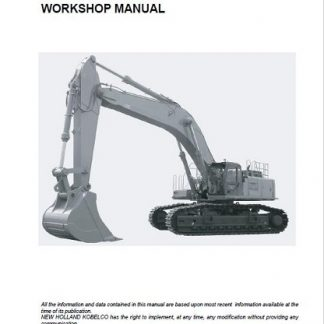 New Holland E805 Workshop Manual