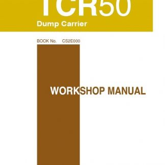 Takeuchi TCR50 Dump Carrier Workshop Manual