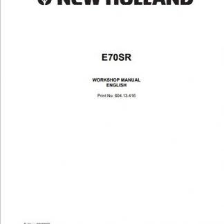 New Holland E70SR Service Manual