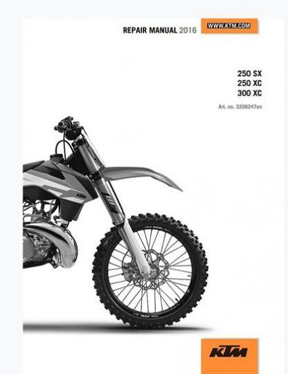 2016 Ktm 250 Sx 250 Xc 300 Xc Repair Manual