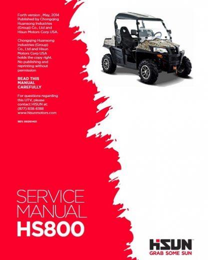 Hisun HS800 UTV Service Manual