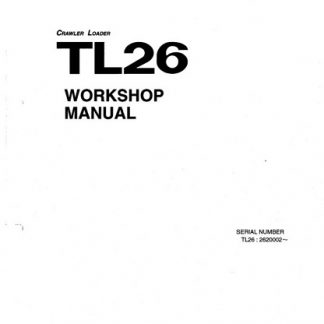 Takeuchi TL26 Workshop Manual
