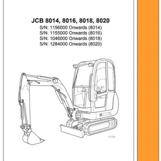 Jcb 8014 8016 8018 8020 Mini Excavator Repair Manual