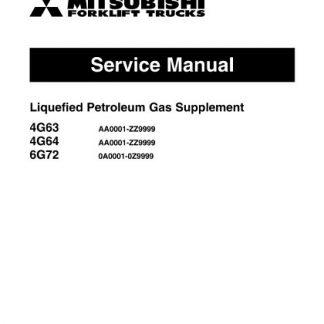 Mitsubishi FG35 FG40 Forklift Trucks Service Manual