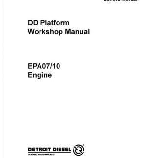 Detroit Diesel DD15 EPA07 Engine Repair Manual