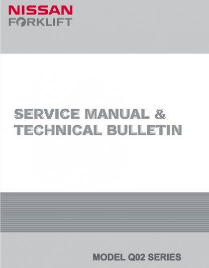 Nissan Forklift Electric Q02 Series Service Repair Manual