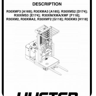 Hyster E174 (R30XMS3) Forklift Service Manual