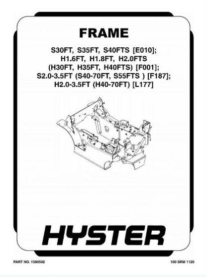 Hyster F187 (S40FT, S50FT, S60FT, S70FT, S55FTS) Forklift Service Manual