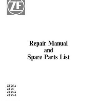 ZF Marine ZF Marine ZF 25 A, ZF 25, ZF45 A, ZF45-1 Repair Manual