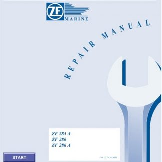 ZF Marine ZF 285 A, ZF 286, ZF286 A Service Repair Manual