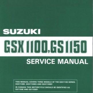 1984-1986 Suzuki GSX1100 GSX1150 GS1150 E ES Service Repair Manual