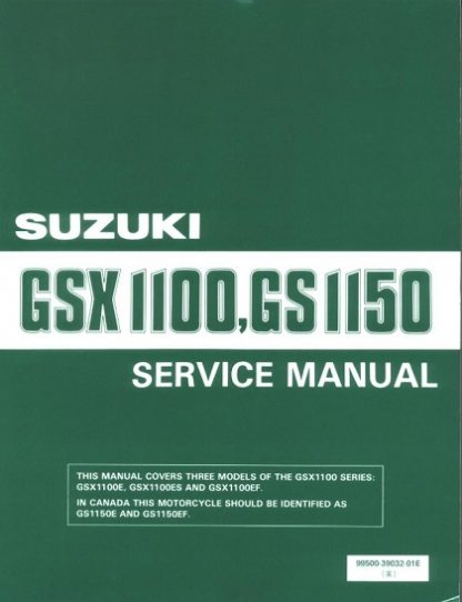 1984-1986 Suzuki GSX1100 GSX1150 GS1150 E ES Service Repair Manual