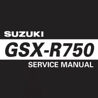 2006-2007 Suzuki GSX-R750 Srevice Repair Manual