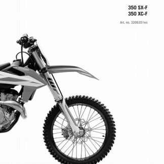 2019 KTM 350 SX-F XC-F Service Repair Manual