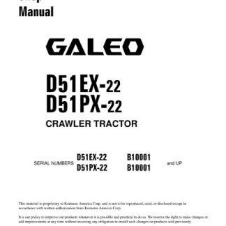 Komatsu D51EX-22 D51PX-22 Crawler Tractor Shop Manual