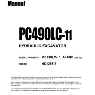 Komatsu PC490LC-11 Hydraulic Excavator Service Repair Manual