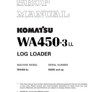 Komatsu WA450-3LL Wheel Loader Service Shop Manual