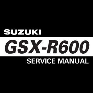 2006-2007 Suzuki GSX-R600 GSXR600 Service Manual