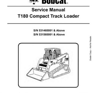Bobcat T180 Compact Track Loader Service Repair Manual