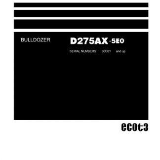 Komatsu D275AX-5E0 Dozer Bulldozer Service Shop Manual