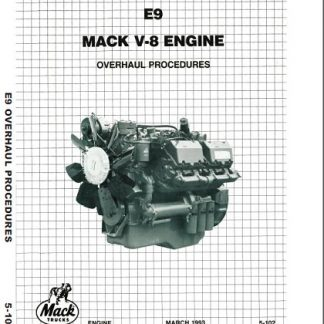 Mack E9 V-8 Engine Service & Repair Manual