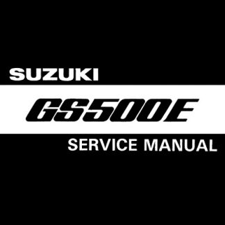 Suzuki GS500E 1989-1999 Service Repair Manual