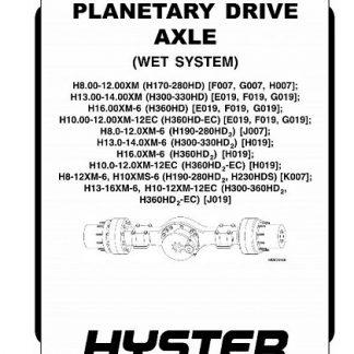 Hyster J019Service Manual