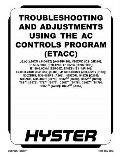 Hyster J160 (J30ZT J35ZT J40ZT) Forklift Service Manual