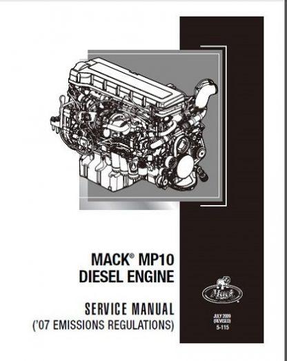 Mack MP10 Diesel Engine Service & Repair Manual