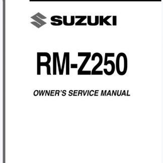 Suzuki RM-Z250 2007 2008 Service Repair Manual