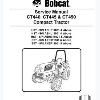 Bobcat CT440, CT445, CT450 Compact Tractor Service Repair Manual