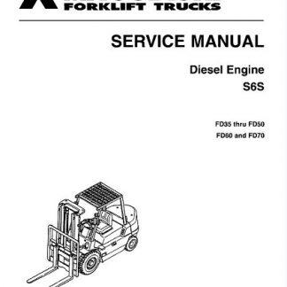 Mitsubishi FD40K FD45K FD50K FD40KL Forklift Trucks Service Manual