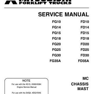 Mitsubishi FG10 FG15 FG18 Forklift Trucks Service Manual