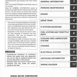 2004 Suzuki LTA700X LT-A700X King Quad ATV Service Manual