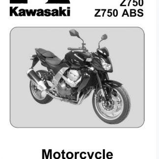 2007-2012 Kawasaki Z750, Z750 ABS motorcycle Service Manual